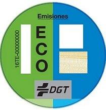 Etiqueta ambiental de la DGT Eco